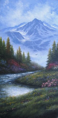 Mountain Landscape Oil Painting Vickie Wade by VickieWadeFineArt, $145.00
