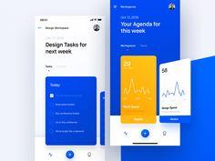 Task Management App framer x framer workshop ux mobile design ui iphone clean typography chart to do app tasks Dashboard Design, App Ui Design, Dashboard Ui, Layout Design, Ui Ux Designer, How To Clean Iphone, To Do App, Manager Humor, Color