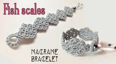 Macrame bracelet tutorial: The fish scales- Simple and elegant macrame ...