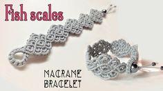 Macrame-Armband-Tutorial: Die Fischschuppen – Einfache und elegante Makramee … – Sherry Rees – Join the world of pin Macrame Colar, Macrame Bracelet Patterns, Macrame Bracelet Tutorial, Macrame Earrings, Macrame Patterns, Macrame Jewelry, Macrame Bracelets, Crochet Earrings, Macrame Knots
