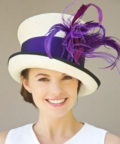 Kentucky Derby Hat Mad Hatter Cloche. Purple & by AwardDesign