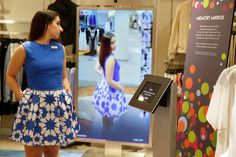 Upscale stores try 'smart' mirrors to help customersshop