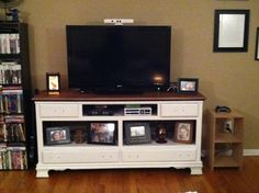 Old dresser to NEW TV stand - on the cheap!