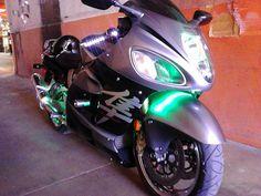 Suzuki Hayabusa - Green LEDs #LED #soundoftristate