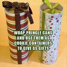 I'm so doing this! Since I discovered Pintrest, I started saving everything from cereal boxes to pringle containers ;)