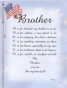 Welcome Home Poem For Military Brother