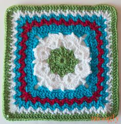 "The 2014 Moogly Afghan Crochet-a-Long: Block #6! 'More V's Please' - free 12"" crochet square pattern by Melinda Miller - With Ravelry link and links for previous squares."