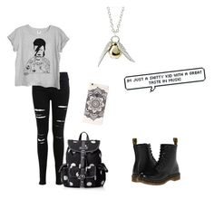 """""""David Bowie"""" by unicorns-in-cloud9 ❤ liked on Polyvore featuring Miss Selfridge, Dr. Martens, Wild Pair and Quiksilver"""