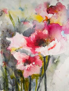 "Saatchi Art Artist Karin Johannesson; Painting, ""Summer Poppies IV"" #art"