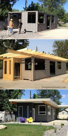 Tiny Container House, Storage Container Homes, Building A Container Home, Container Buildings, Usa Living, Shipping Container Home Designs, Tiny House Plans, Small House Design, Home Design Plans