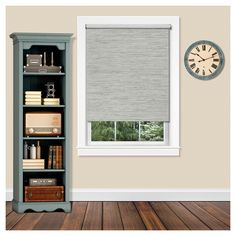 "Cordless Privacy Jute Window Shade Heather Gray (30""x72"") - Achim"