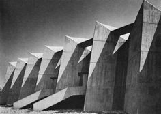 Antonin Raymond's Gunma Music Center, Takasaki, Japan, 1961 — via http://furtho.tumblr.com/post/114100047061/antonin-raymonds-gunma-music-center-takasaki …
