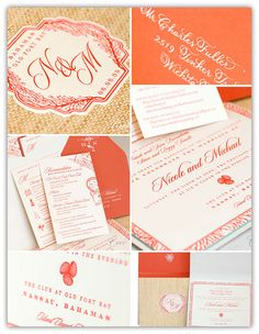 Top 10 Coral Wedding Invitations