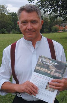 Martin Shaw, holding RSPCA literature I believe! My favorite vegan actor, plays Detective Chief Inspector George Gently.