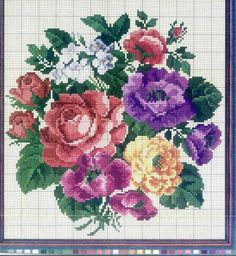 1 million+ Stunning Free Images to Use Anywhere Cross Stitch Rose, Cross Stitch Flowers, Cross Stitch Charts, Cross Stitch Designs, Cross Stitch Patterns, Embroidery Patterns Free, Learn Embroidery, Vintage Embroidery, Cross Stitch Embroidery