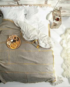 From Martha Stewart: How-To  Knit Blanket - Photo by Christopher Baker