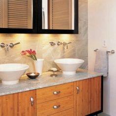 1000 images about mid century bathroom renovation on - Mid century modern double bathroom vanity ...
