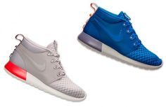 Nike Roshe Run Sneakerboot Leather Iron and Game Royal Available Now
