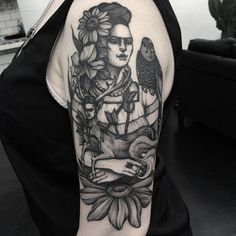 """Absolutely honoured that Fi let me do this piece inspired by Frida Kahlo's paintings on her arm. It's all healed other than the flower at the bottom.…"""