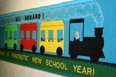 Preschool Train BulletinBoard | Welcome Back to School Classroom Train Bulletin…