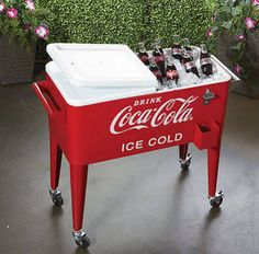 LeighCountry CocaCola Cooler, 80 Qt w/Wheels. $266.65 at nikkaysbargains on ebay, 3/17/16