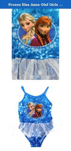 Frozen Elsa Anna Olaf Girls Swimwear (2T, Blue Elsa Anna One Piece). Bees'll buzz, kids'll blow dandelion fuzz... In Summer! Dive in the water or have fun in the sun with your favorite Disney Frozen characters wearing these colorful and cute Disney Frozen Elsa, Anna and Olaf swimwear! Perfect for the beach or kickin'; around the pool, these Disney Frozen swimsuits are a perfect choice! Choose from five great styles including: Blue Elsa Anna One Piece - Featuring a classic image of the...