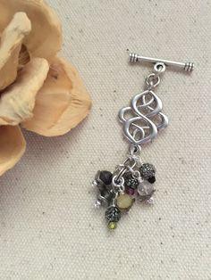 Gemstone and Quartz Beaded Pendant Necklace #233