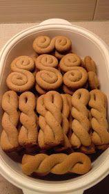 Greek Sweets, Greek Desserts, Greek Recipes, Greek Cookies, Almond Cookies, Biscuit Bar, Biscuit Recipe, Sweets Recipes, Cookie Recipes