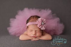 Tutu and Headband Set.  Dusty Rose Tutu by ThePinkDaisyBoutique