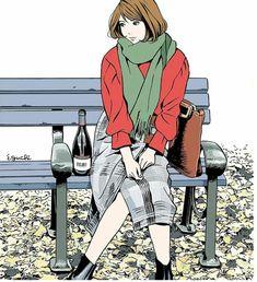 Manga Anime, Cute Girl Drawing, Art For Art Sake, Manga Illustration, Anime Style, Figurative Art, Traditional Art, Japanese Art, Art Inspo