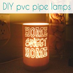 LOVE IT!  These DIY pvc pipe lamps are so cool!  #diy #pvc #crazydiymom #lamp