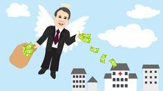 Business angel illustration @ Stina Tuominen