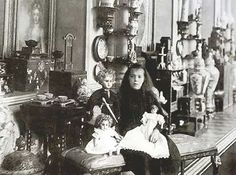 Grand Duchess Olga Alexandrovna Romanova of Russia with her doll collection.A♥W
