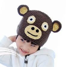 Monkey costume hats with ears for kids creative animal knit hat Monkey Hat, Cute Monkey, Ear Hats, Beanie Hats, Fancy Dress Hats, Monkey Costumes, Knitted Hats, Crochet Hats, Funny Hats