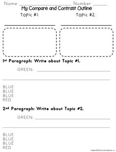 002 Compare and Contrast Text Frame & Graphic Organizer MS
