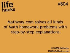 Math way.com solves all kinds of math homework problems with step-by-step explanations - Life Hacks