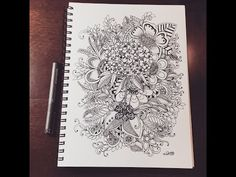 butterflies and flowers. zentangle inspired - YouTube