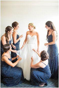 Navy Sequin Bridesmaids Dresses | Navy Wedding Inspiration | Alexandria, VA | Hope Taylor Photography