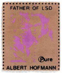 LSD blotter -thanks Albert Hofmann
