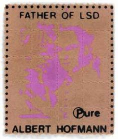 LSD blotter -thanks Albert Hofmann