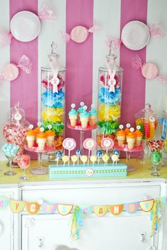 Candy Land Party Ideas - love the plate candy decor on the walls