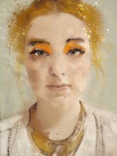 Golden Girl | Sarah Jarrett #figurative #portrait #art