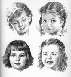 Drawing the Head and Hands by Andrew Loomis Baby Drawing, Life Drawing, Figure Drawing, Drawing Sketches, Art Drawings, Sketching, Portrait Au Crayon, Pencil Portrait, Portrait Art