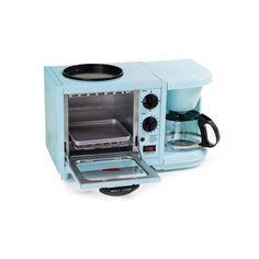 Breakfast Station 4-Cup Coffee Maker,Toaster Oven, Blue, Elite Cuisine 600 W  #Elite