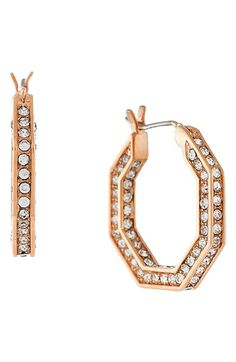Louise et Cie Small Pavé Hoop Earrings available at #Nordstrom