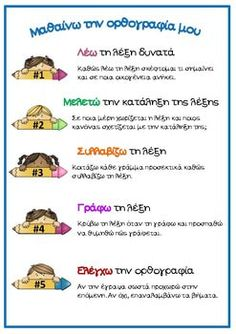 Holiday Party Discover Dictation Strategies (in Greek) by PrwtoKoudouni Ancient Greek Grade 1 Special Education Grammar Classroom Teacher Parenting School Books Teaching Methods, Learning Process, Work Activities, Therapy Activities, School Lessons, School Hacks, Kids Education, Special Education, Learn Greek