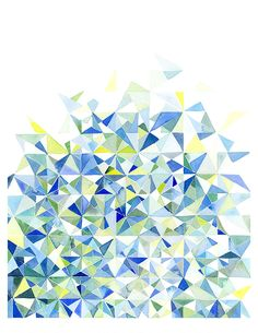 Handmade Watercolor Abstract by Jao Cheng. Just won highest bidder for a similar print at the Westerville Arts Festival! Green Watercolor, Abstract Watercolor, Watercolor Illustration, Watercolor Paintings, Watercolours, Geometric Art, Geometric Painting, Design Art, Creations