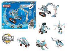 The Meccano 15 Model Set in the Meccano Multi Models range of construction toys is great for children from 8 upwards. This set offers the builder fifteen different models to choose from. Includes 252 pieces.