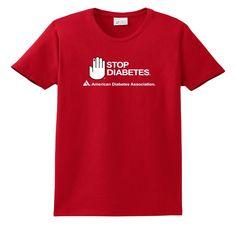 Red Stop D T-Shirt, Ladies
