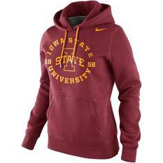 Nike Iowa State Cyclones Ladies School Stamp Pullover Hoodie - Cardinal